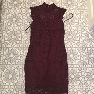 Laundry by shelli segal deep garnet  dress